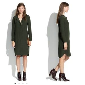 Madewell Olive green crew dress